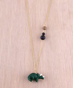Dinosaur Necklace Triceratops