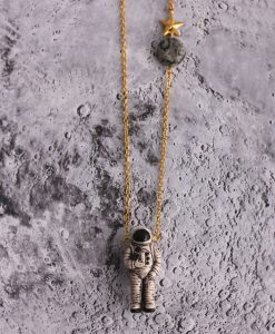 Astronaut Moon Necklace