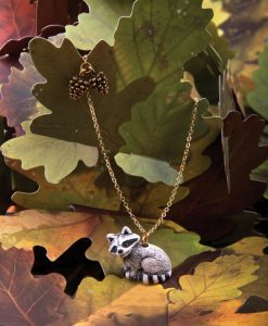 Ceramic Animal Racoon Jewelry