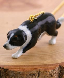 Ceramic Animal Border Collie Necklace