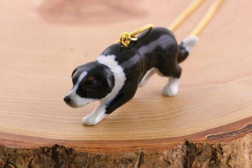 Ceramic Animal Border Collie Necklace