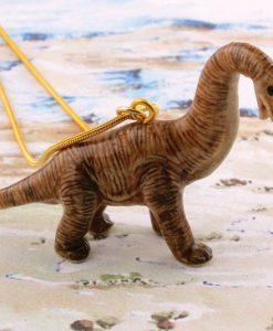 Ceramic Animal Brachiosaurus Necklace