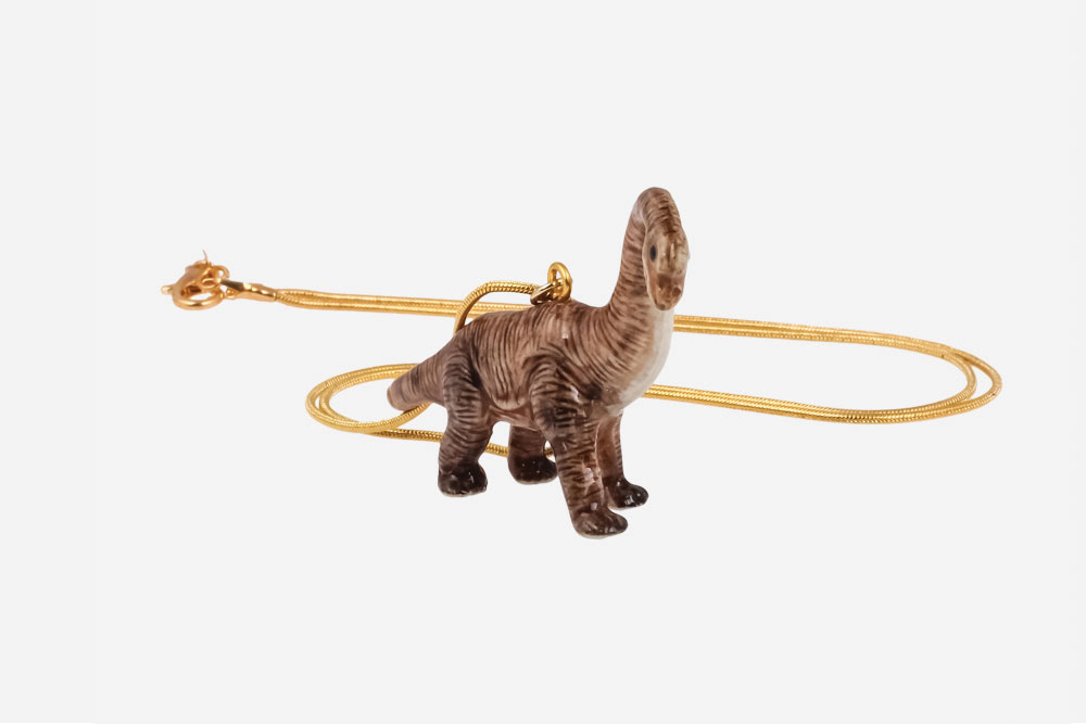 ceramic animal brachiosaurus necklace   baublebible