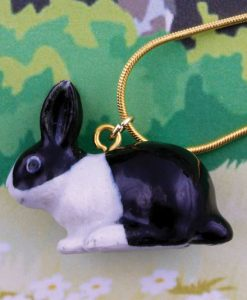 Ceramic Animal Bunny Necklace