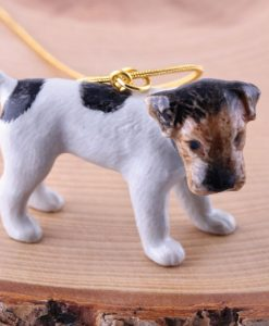 Ceramic Animal Fox Terrier Necklace