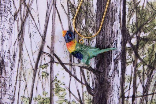 Ceramic Animal Lorikeet Bird Necklace