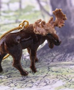 Ceramic Animal Moose Necklace