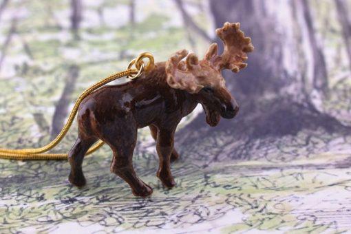 Ceramic Animal Moose Necklace