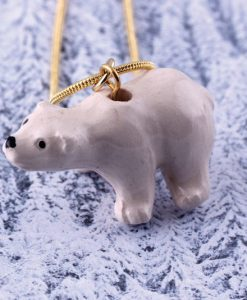 Ceramic Animal Polar Bear Necklace