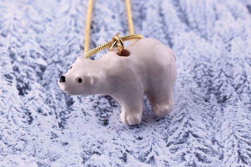 Ceramic Animal Polar Bear Necklace