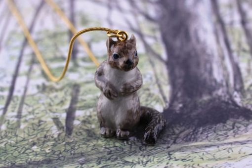 Ceramic Animal Squirrel Necklace