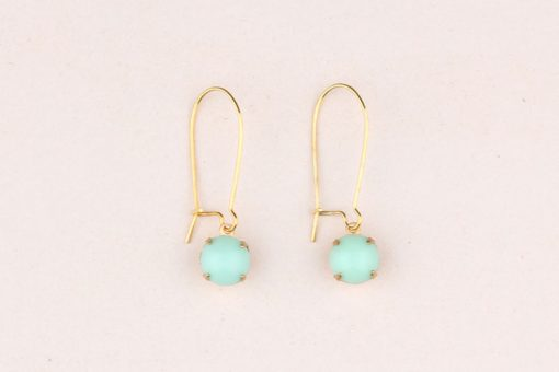 Vintage Earrings Mint Green
