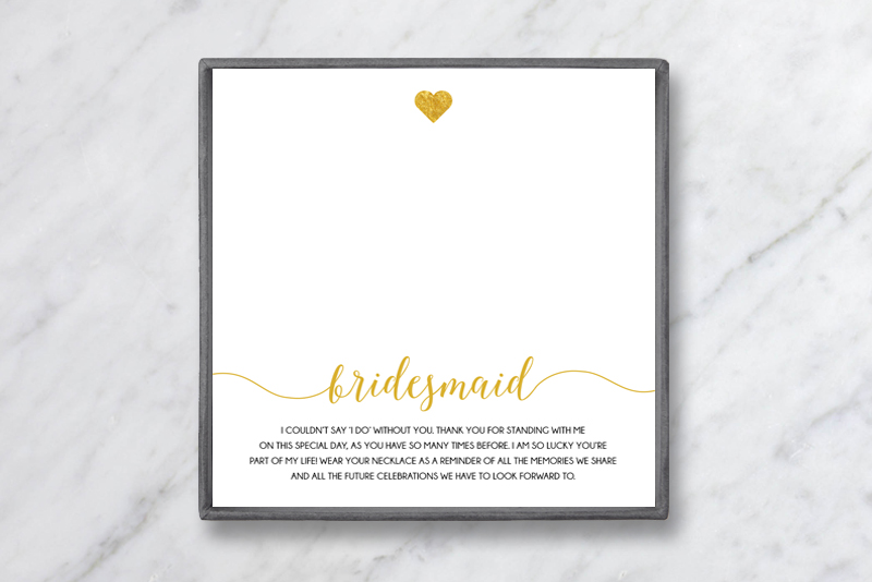 Bridesmaid Gift Card Baublebible Com