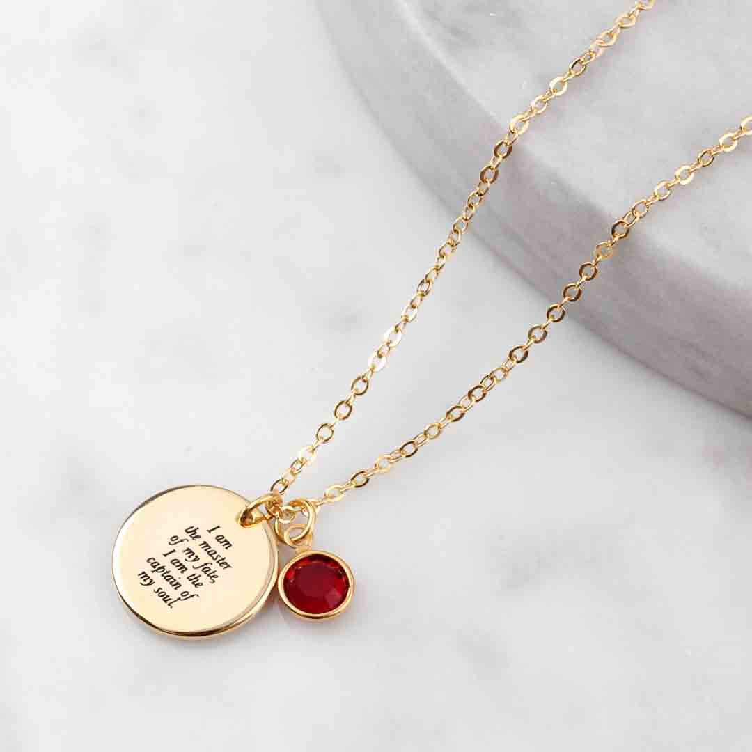 Quote Engraved Necklace Baublebible Com